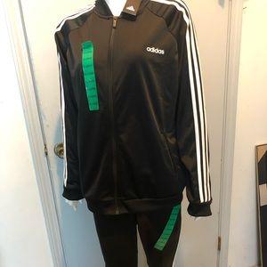 Adidas ladies leggings and jacket size XL
